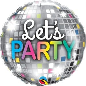 "Folinis balionas ""Let's party"" 18""/46cm"