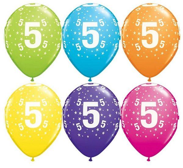 """Gimtadienio balionai """"5"""""""