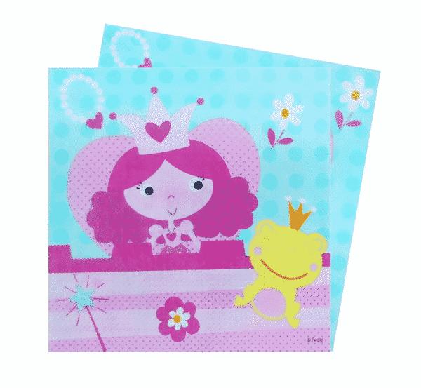 """Popierinės servetėlės """"Princesė"""" 33x33cm/20vnt"""
