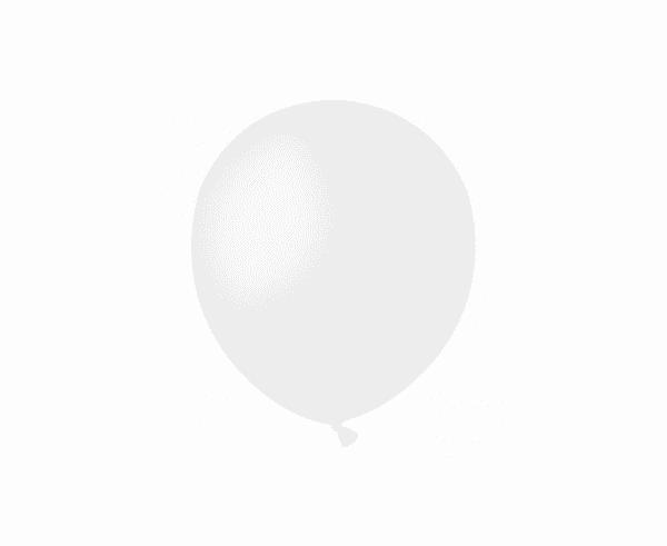 Balti pasteliniai guminiai balionai