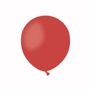 Raudoni pasteliniai guminiai balionai