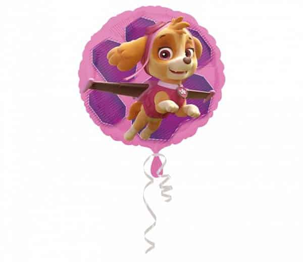 "Folinis balionas ""Paw patrol pink Skye & Everest"" 18"""