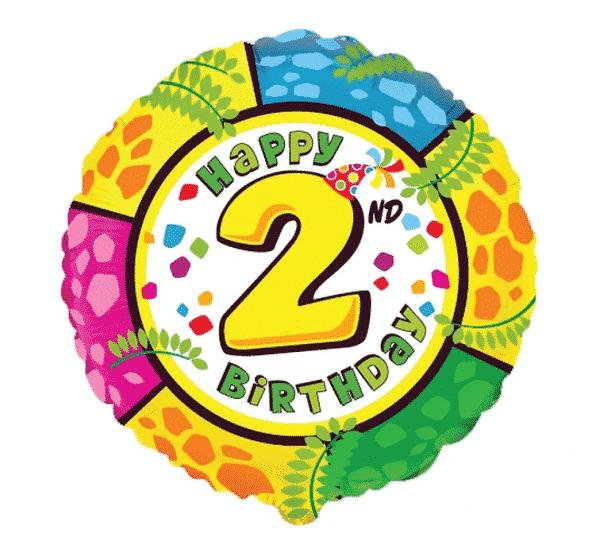 "Folinis balionas ""Happy 2nd Birthday"" 18"""