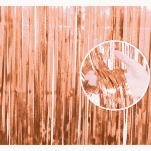 Rožinio aukso durų dekoracija 90x240cm