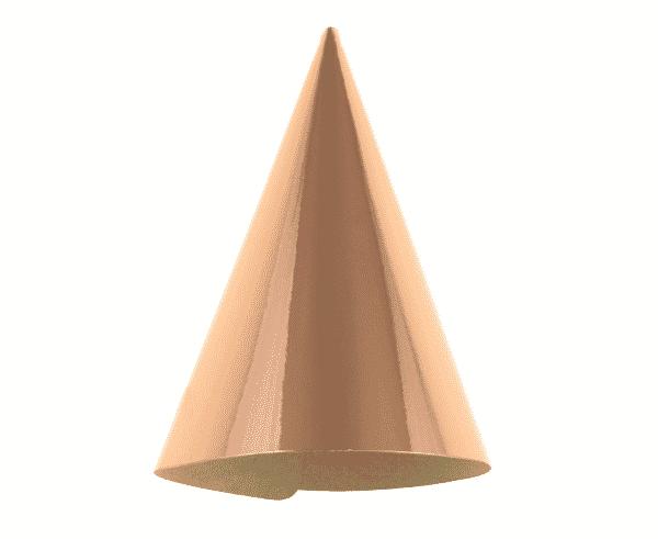 """Popierinės kepurėlės """"Metalinis rožinis auksas"""" 6vnt"""