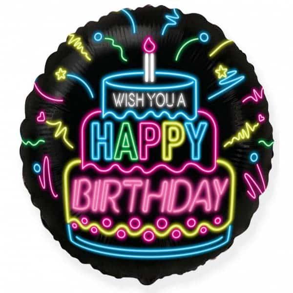 """Folinis balionas """"Wish you a happy birthday"""" 18"""""""