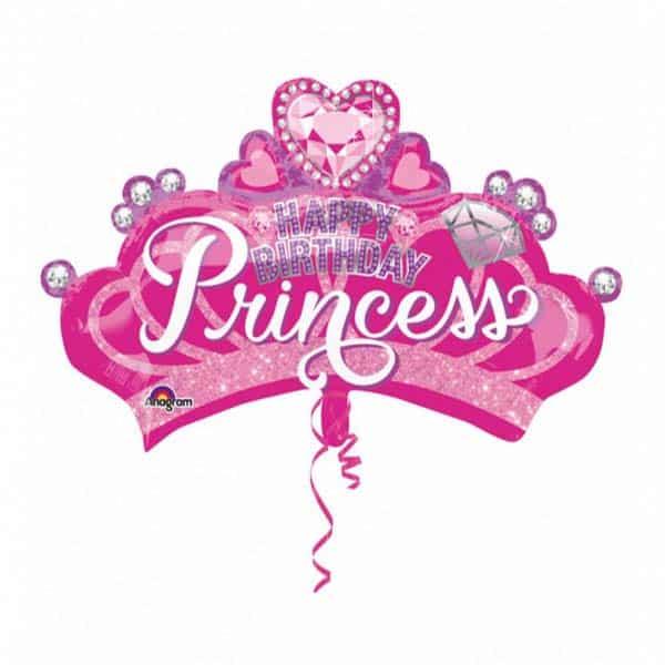 """Folinis balionas """"Happy birthday princess"""" 32"""""""