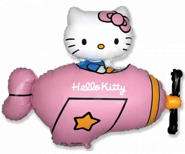"""Folinis balionas """"Hello Kitty on the plane"""" 24"""""""
