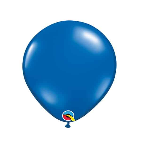 Guminiai balionai safyro mėlynos spalvos