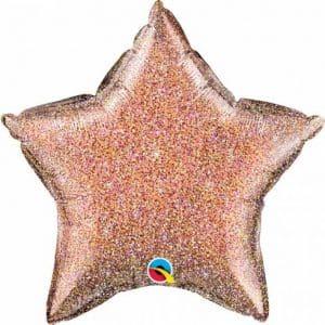 """Folinis balionas """"Blizgančio rožinio aukso žvaigždė"""" 20""""/51cm"""