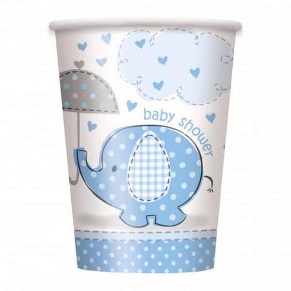 """Popieriniai puodeliai """"Baby Shower"""" 270ml/8vnt"""