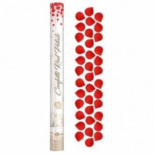 """Konfeti """"Rožių žiedlapiai"""" raudoni, tekstiliniai 60cm"""