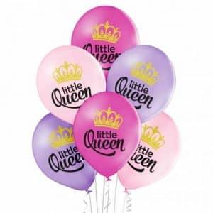 """Guminiai balionai """"Little Queen"""" 30cm/12""""/6vnt"""