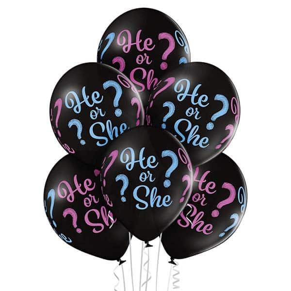 """Guminiai balionai """"He or She?"""" 12""""/30cm/50vnt"""
