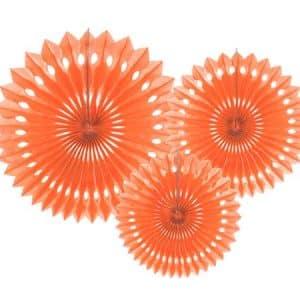 """Dekoracija """"Decorative Rosettes"""" koralinės spalvos 20/25/30cm/3vnt"""