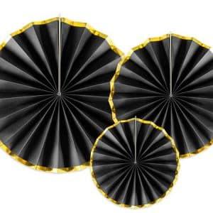 Pakabinamos dekoracijos, juodos spalvos 23/32/40cm/3vnt