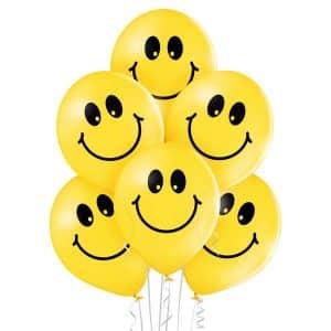 """Guminiai balionai """"Šypsenėlė"""" 12""""/30cm/50vnt"""