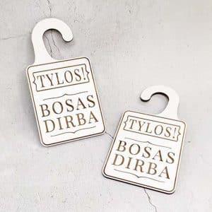 "Lentelė ant durų rankenos ""Bosas"""