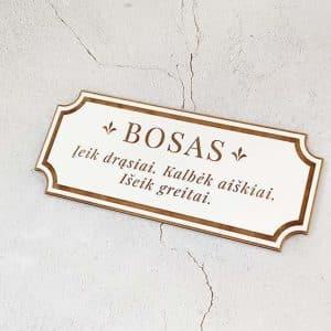 """Lentelė ant durų """"Bosas"""""""