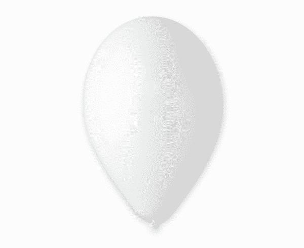 """Pasteliniai guminiai balionai, baltos spalvos 12""""/30cm/100vnt."""
