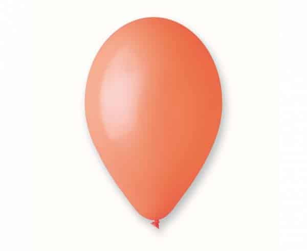 """Pasteliniai guminiai balionai, oranžinės spalvos 12""""/30cm/100vnt."""