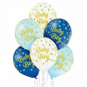 "Guminiai balionai ""Baby Boy"" 50vnt."