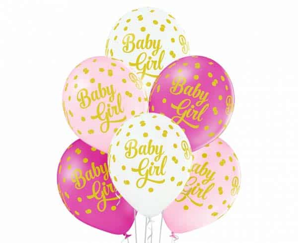 "Guminiai balionai ""Baby Girl"" 50vnt."