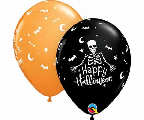 "Guminiai balionai ""Happy Halloween"" 11""/25vnt."
