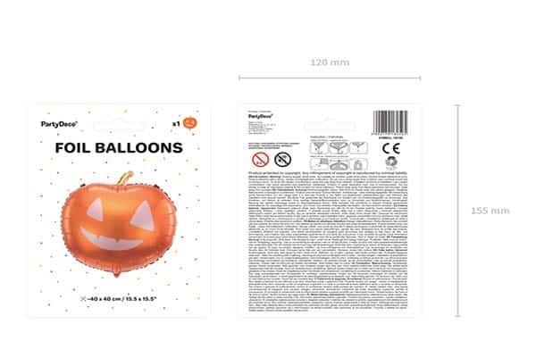 "Folinis balionas ""Moliūgas"" 40x40cm."